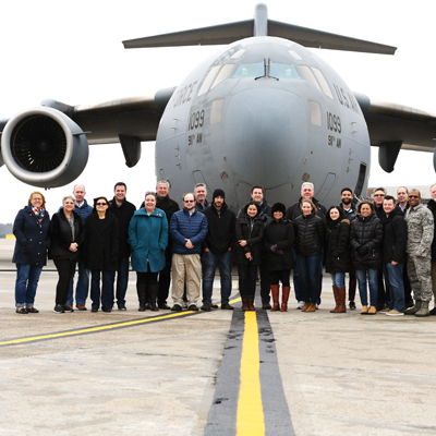 First civilians take flight in 911th C-17