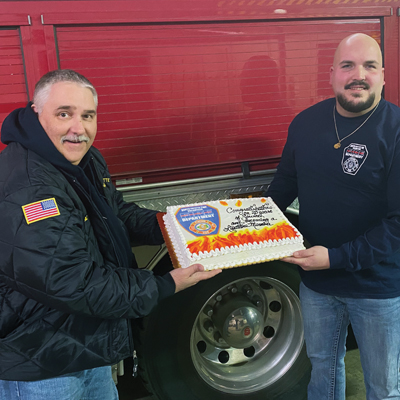 North Fayette VFD members honored for 20 years of service