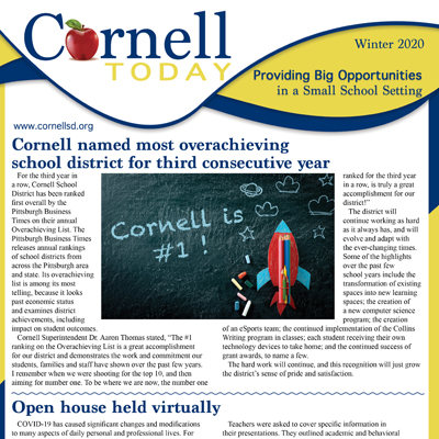 Cornell School District Newsletter - Winter 2020